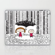 Raining numbers barcode Laptop & iPad Skin