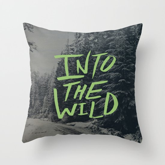 Into the Wild: Lost Lake Throw Pillow