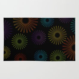 Colorful Christmas snowflakes pattern- holiday season gifts- Happy new year gifts Rug