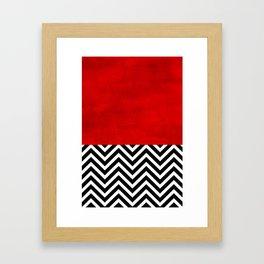 Fire, walk with me. Framed Art Print