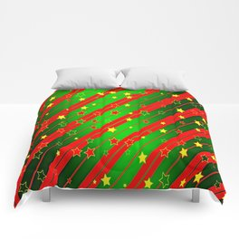 Holiday Season Stars and Stripes  Comforters