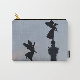 Vittoriano angels at sunset 1 Carry-All Pouch
