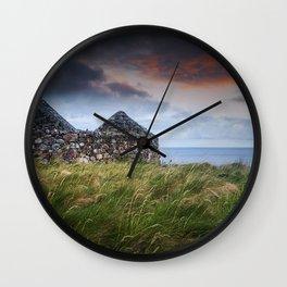 Ruin by the Sea Wall Clock