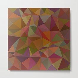 Autumn  triangles Metal Print