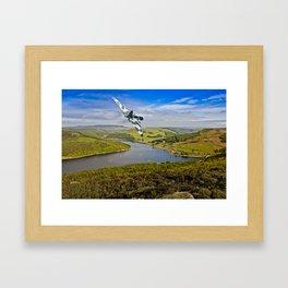 Vulcan over Ladybower Framed Art Print