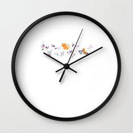 Gatos de los Muertos Wall Clock
