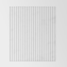 White Black Pinstripes Minimalist Throw Blanket