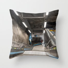 Västra skogen Metro Station in Stockholm, Sweden II Throw Pillow
