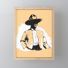 Cowboy Framed Mini Art Print