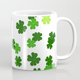 Shamrocks Falling - Pattern for Saint Patricks Day Coffee Mug