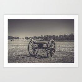 Artillery Placement Gettysburg National Military Park Pennsylvania Civil War Battlefield  Art Print