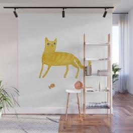 Nice Ginger Cat Wall Mural