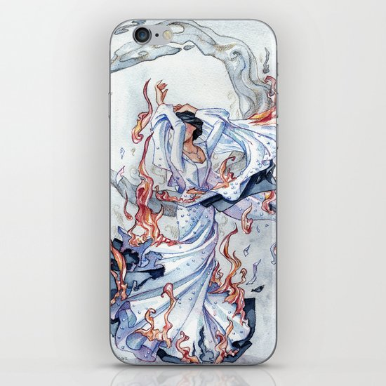 The Bride on fire iPhone & iPod Skin
