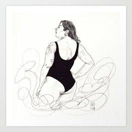 curvey Art Print