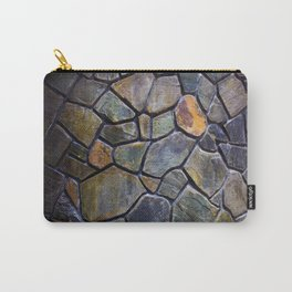 Mosaic Stone Wall Carry-All Pouch