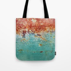 Teal Rust Tote Bag