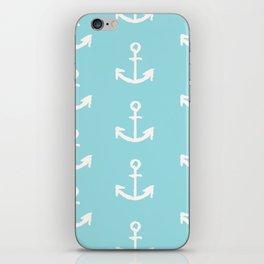 Anchor - mint blue iPhone Skin