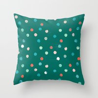 dots Throw Pillows featuring dots by Grace