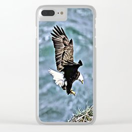 BALD EAGLE NESTING Clear iPhone Case