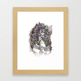 Nightshade Inktober Ink and Watercolor Illustration Framed Art Print