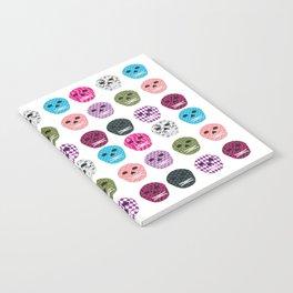 Sugar Pattern Skulls Notebook