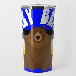Lazy Bear flag gay bear pride lgbt bears osos gay  Travel Mug