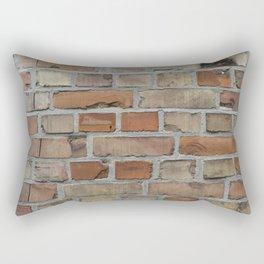 Vintage red brick wall texture Rectangular Pillow