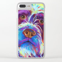 Wirehaired Griffon or Labradoodle Clear iPhone Case
