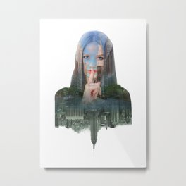 Silence In The City - One Metal Print