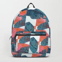Blue and Orange Leaves Backpack