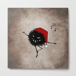 Dark Evil Christmas Bug Metal Print
