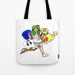 Green Haired Goddess Tote Bag