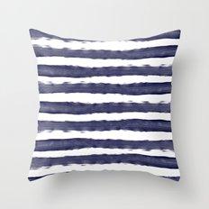 Blue- White- Stripe - Stripes - Marine - Maritime - Navy - Sea - Beach - Summer - Sailor 1 Throw Pillow