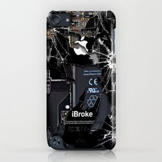 Broken, rupture, damaged, cracked black apple iPhone 4 5 5s 5c, ipad, pillow case and tshirt Slim Case iPod touch