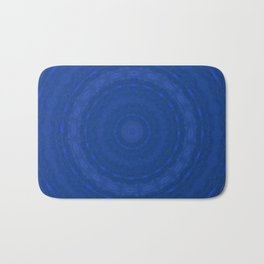 Blue circles Bath Mat