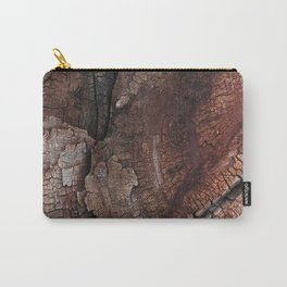 burned wood texture Carry-All Pouch