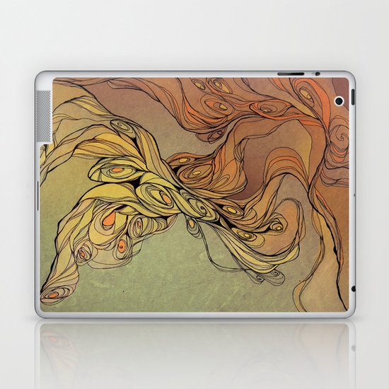 abstract floral composition 2 Laptop & iPad Skin
