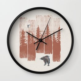 A Bear in the Wild... Wall Clock