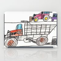 pocket fuel iPad Cases featuring Taking on Fuel by Ryan van Gogh