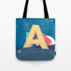 Alphabet A Tote Bag