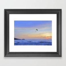 Sunset on Patong Beach Framed Art Print