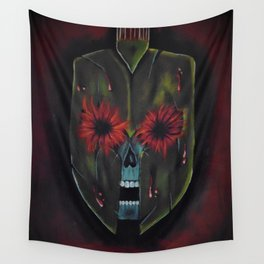 bloodshot spartan Wall Tapestry