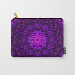 Ultra Violet Mandala Design Carry-All Pouch