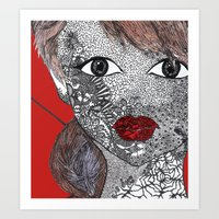 melissa smith Art Prints featuring Melissa by Mridula  Basak