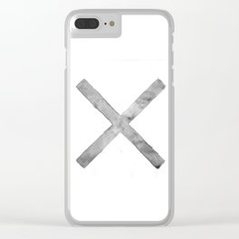 BLACK AND WHITE CROSS Clear iPhone Case