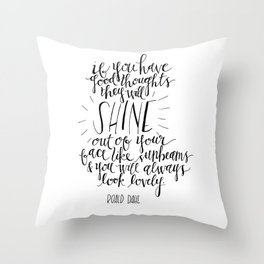 They Will Shine | Roald Dahl Print Throw Pillow