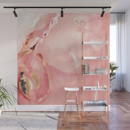 Pink Opal Watercolor Wall Mural