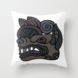 Wolf Snarl Glyph Throw Pillow