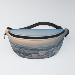 Sea and Ice at Dusk Fanny Pack