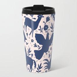 Otomi ink on blush Travel Mug